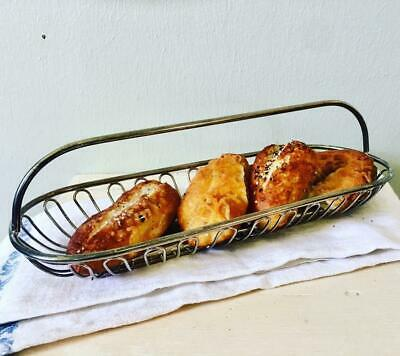 Vintage Silverplate Bread Basket, Leonard Silver plate Made in Italy,