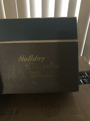 Vintage Holiday 7 X 50 Zoom Binoculars With Case And Box