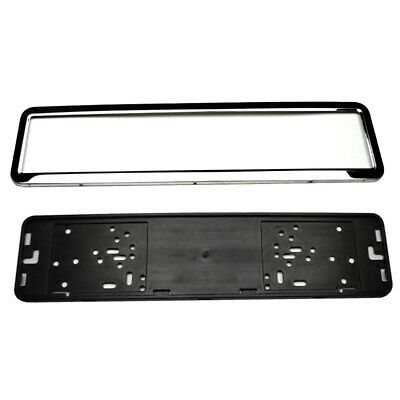2 x Chrome STAINLESS STEEL Car Number Plate Holder Frame Surround For Any Car