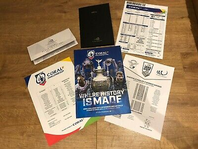 🏉 Coral Challenge Cup & AB Sundeck 1895 Finals Programme + Extras 24th Aug 2019