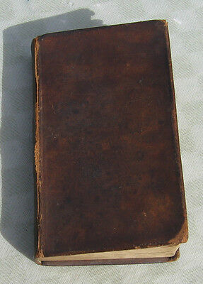 History Book England 1828 Hume & Smollett's Leather Volume II Antique Old