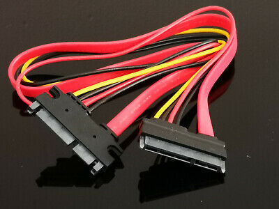 Male Female M/F 7+15 Pin Serial SATA Data power combo extension Cable 50cm
