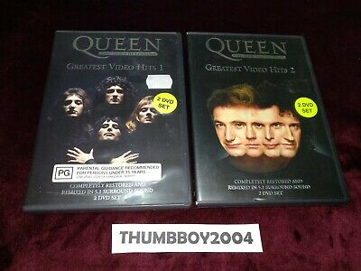 Queen - DVD Collection - Greatest Video Hits Volumes 1 & 2, 4-disc set RARE/OOP
