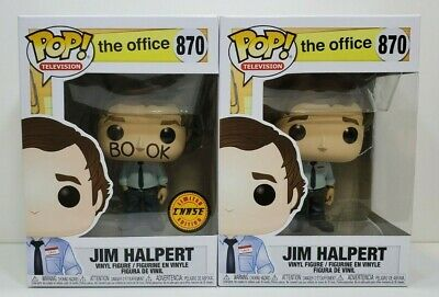 Funko Pop The Office Jim Halpert # 870 Common, Chase, Protector - Brand New