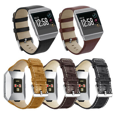 Leather Sport Watch Band Replacement Strap Wristband for fitbit ionic smartwatch