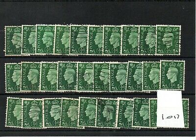 GB  - GEORGE V1 -(1017) 1937- Definitives -  0.5d  30 copies - commercially used