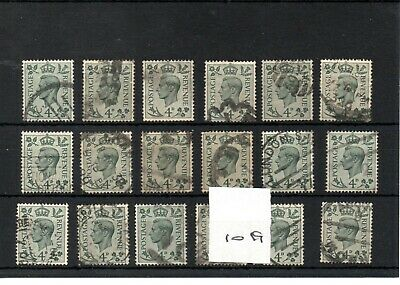 GB  - GEORGE V1 -(1019) 1937- Definitives -  4d - 18 copies - commercially used