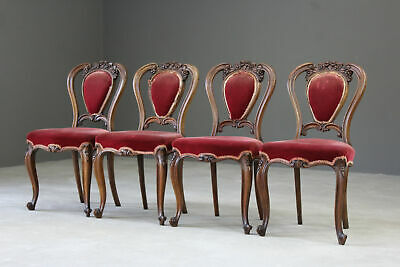 Set 4 Antique French Dining Chairs