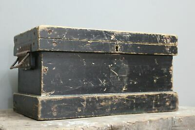 Vintage Rustic Stained Pine Writing Box