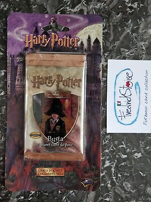 Blister tcg Harry Potter ITA 2001 busta carte gioco trading card game base box