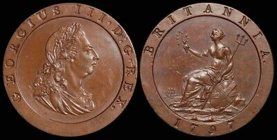 Australia Proclamation Coin. GREAT BRITAIN: 1797 George III 1d. Proof. S-3777