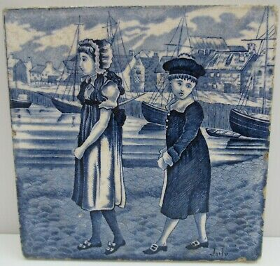 Wedgwood Months of the Year tile designed by Kate Greenaway 1879