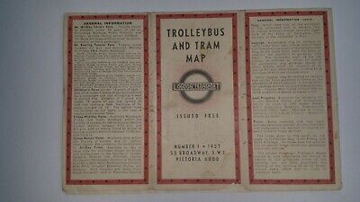 Trolleybus and Tram Map issued by London Transport in 1937