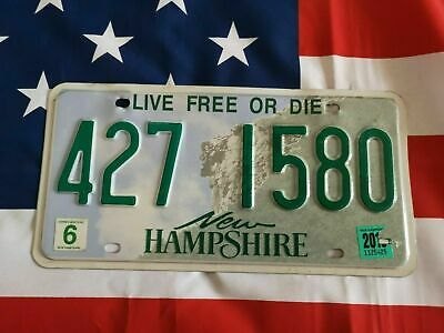 Plaque d'immatriculation New Hampshire 427-1580 US USA License Plate