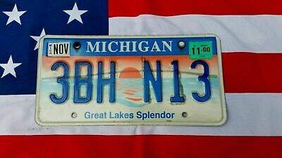 Plaque d'immatriculation Michigan 3BH-N13 US USA License Plate