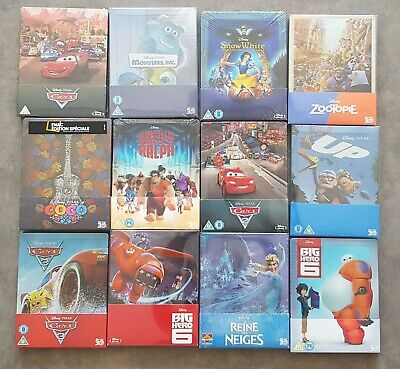 Lot Steelbook Disney Pixar Neuf Coco 3d reine des neiges Ralph cars
