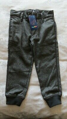 LUPILU Boys Grey Smart Trousers Age 2-3 Years Elasticated Ankles New With Tags
