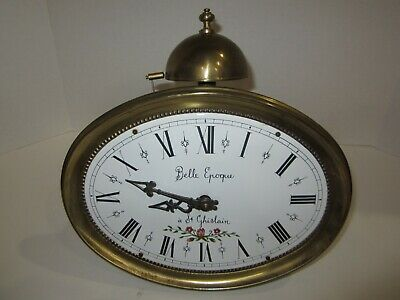 Morbier Comtoise Small Weights Driven Wall Clock Top Bell Strike
