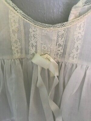 2 Vintage Baby Girls Her Majesty White Lace Ruffle Slip Dress 12 Month