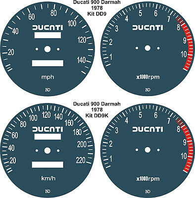 Ducati Darmah 900 Sd Speedo Tach Rev Counter Gauge Dial Overlays