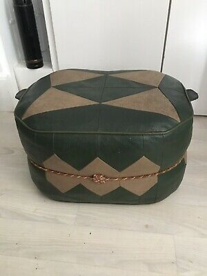 Vintage poufee Foot Stool Low Seat Casual Retro Mid Century