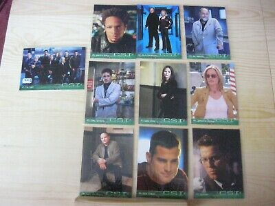Strictly Ink Csi 10 Chase Card Set With Puzzle Picture On Back  A1 - A10 Mint