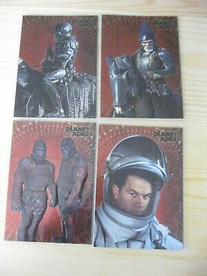 Topps Planet Of The Apes Foil Embossed Trading Chase Cards F3 F4 F9 F10 Mint