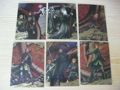 Topps Lotr Lord Of The Rings Masterpieces Foil Etched 6 Chase Trading Cards