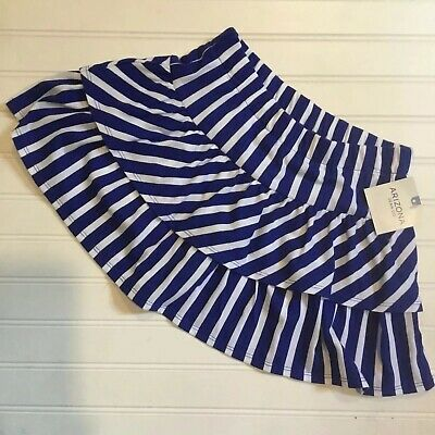 Girls Arizona Striped Navy Skirt/Skort Size 7/8 SALE