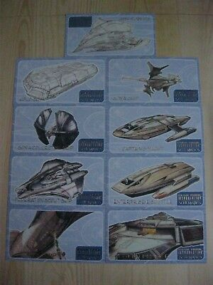 Star Trek Insurrection Trading Cards  Schematics Subset Set Of 9 Chase Cards