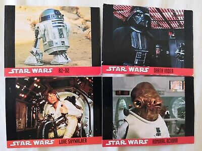 Star Wars Topps 1995 4 trading cards