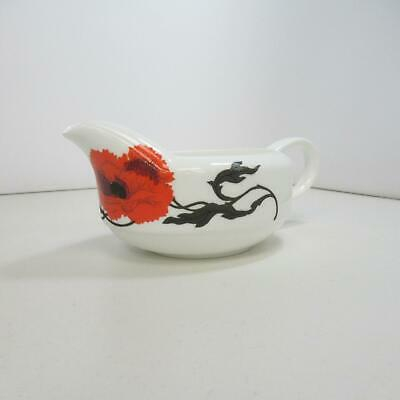 Wedgewood Bone China Cornpoppy Gravy Boat designed by Susie Cooper