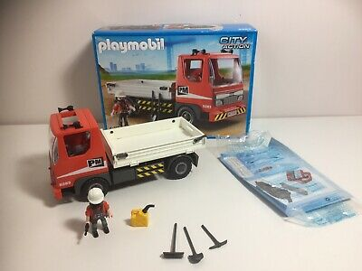 Playmobil Flatbed Lorry Tipper Truck 5283 Construction Boxed Vgc