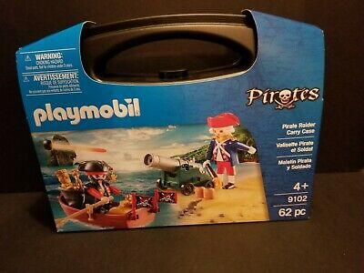 NEW Playmobil Pirate Raider Carry Case Building Set 9102