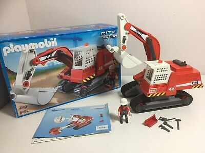 Playmobil 5282 City Action Construction Excavator Large Digger With Original Box
