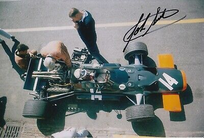 John Surtees Hand Signed 12x8 Photo - F1 Autograph.