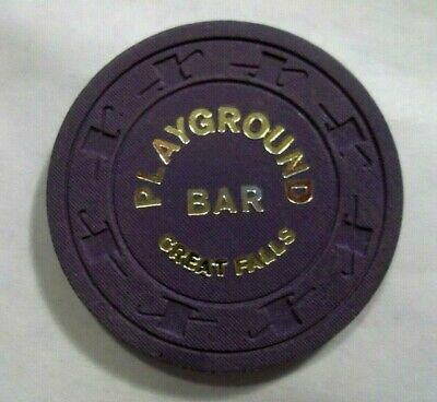 Playground Bar Poker Chip Great Falls Montana Authentic 50 Cent scarce