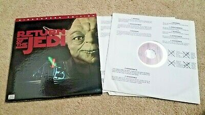 Return of the Jedi THX Laser Disc Widescreen Edition 20th Century Fox Star Wars