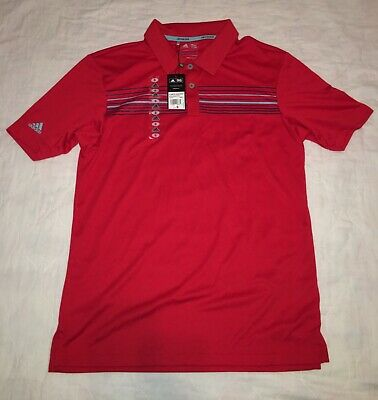 NEW Men's Adidas Golf Polo Shirt Size Small Climacool NWT CLMCO CHSTPRT