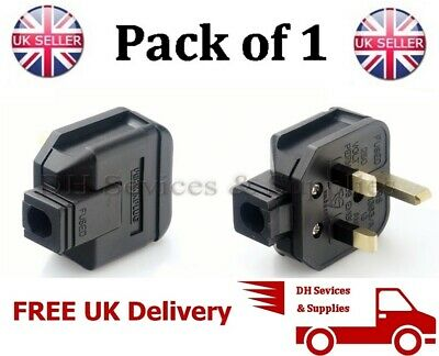 NEW BLACK PermaPlug 13 Amp 240V UK 3 Pin Heavy Duty Body Rewireable 13A Plug
