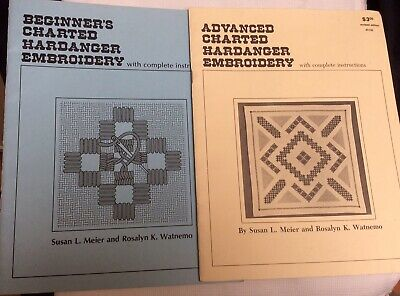 Charted Hardanger Embroidery Beginners & Advanced Pattern Booklets Meier Watnemo
