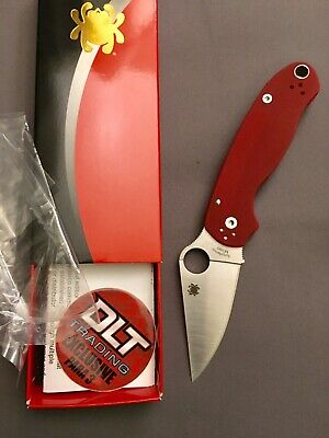 SPYDERCO PARA 3 DLT Exclusive Red G-10 M390 PM3 Paramilitary