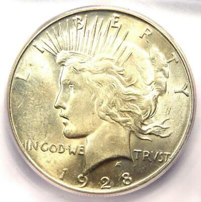 """1928-S Peace Silver Dollar $1 - Certified ICG MS63+ PQ """"Plus"""" Grade - $575 Value"""