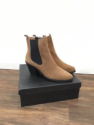 Sportsgirl Suede Ankle Boots Genuine Leather 39