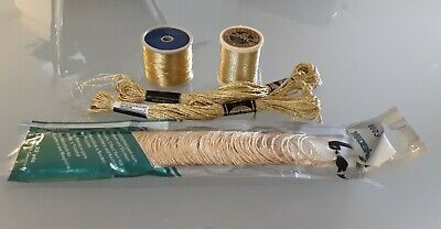 5 Gold Dmc  & Madiera Metallic Thread For Sewing & Embroidery