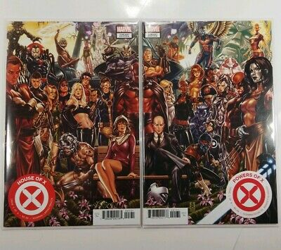 🔥House Of X #1 Powers Of X #1 Nm+ Mark Brooks Connecting Variant Set! 1St App🔥