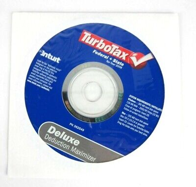 Intuit TurboTax Deluxe Federal State 2006 Windows Mac