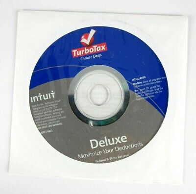 Intuit TurboTax Deluxe Federal State 2009 Windows Mac