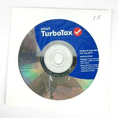 Intuit TurboTax Deluxe Federal State 2013 Windows Mac