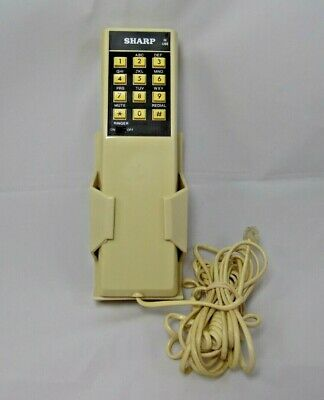 Vintage Sharp 1 Piece Push Button Wall Phone Attached Cord